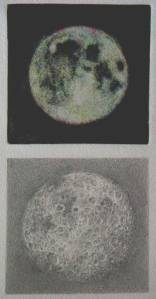 drawing Two Views of the Moon